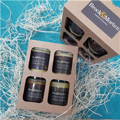 Gift pack of 4 local mayonnaises made from cold pressed Peak District rapeseed oil
