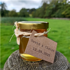 Personalised Peak District Raw Honey - Great as Wedding Favours, Min order=25 (40mL)