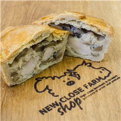 Chicken and Mushroom Pie - Large approx 6inch diameter - Fresh