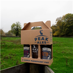 Local ale large bottle gift pack with celebration glass