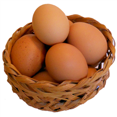 6 locally sourced eggs