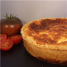 Large Deep Filled Cheese & Tomato Quiche (9 inches)